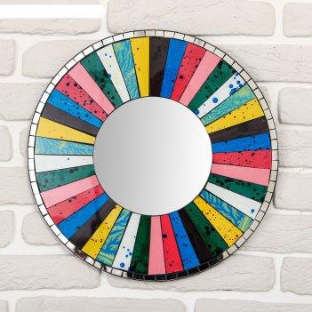 Панно зеркальное круг счастья 40х1х40 см