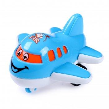 Самолет инерционный «лайнер с глазками», микс