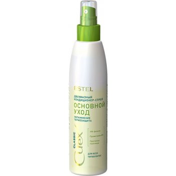 Кондиционер-спрей cu200/2f двухфазный для всех типов волос увлажнение cure
