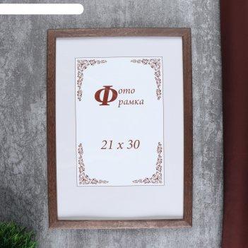 Фоторамка сосна формат а4 с14 21х30 см (002 грецкий орех)