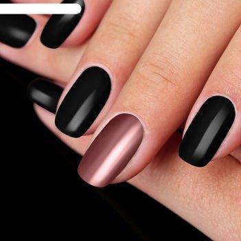 Втирка shimmering metallic для декора ногтей, с аппликатором, цвет розовый