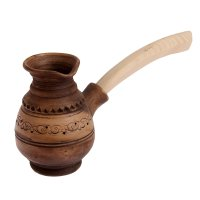 Турка высокая дворянская 0,25л. с деревянной ручкой