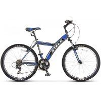 Велосипед 26 stels navigator-550 v, 2016, цвет серый/чёрный/синий, размер