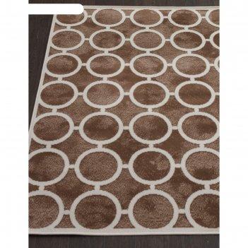 Прямоугольный ковёр sierra d713, 250x350 см, цвет brown-cream