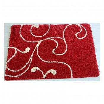 Коврик для ванной, комнаты 60х90 см flower lace, red