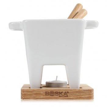 Набор для сырного и шоколадного фондю boska бьянко 11х11см (чаша, подставк