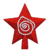 Наконечник-звезда красная с узором