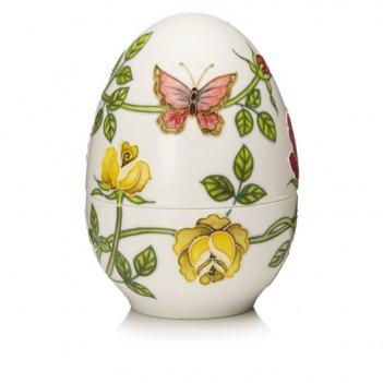 Шкатулка lamart palais royal яйцо 13см, керамика