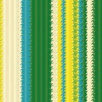 Крафт в рулоне зеленый/желтый (полоска) 100см*10м (уп.1/16рул.)