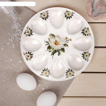 Подставка для яиц «цветы шиповника», 20x2 см