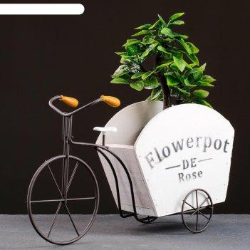 Кашпо-велосипед 30*11*18см
