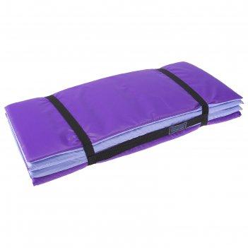 Коврик складной 170*51 см, цвет фиолетовый/сиреневый
