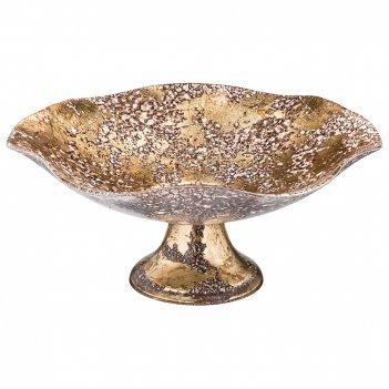 Блюдо на ножке venice brown диаметр=35 см. высота=14 см.