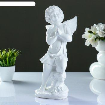 Статуэтка ангел молящийся белый ассорти