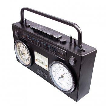 Часы-термометр настольные ретро магнитофон 36*10*21см