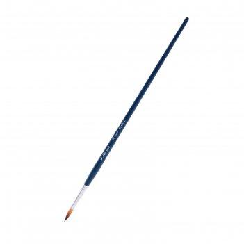 Кисть синтетика круглая байкал нейлон №10 d-5.5мм l-18мм (удлиненная ручка