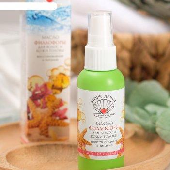 Масло филлофоры для волос и кожи головы восстановление и питание море лечи