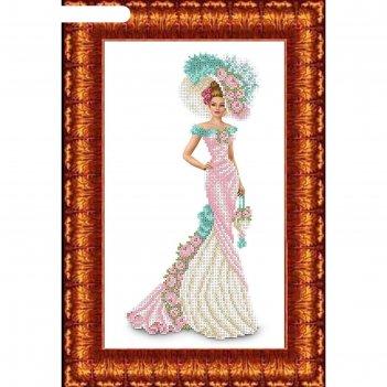 Набор для вышивания бисером «дама с сумочкой»