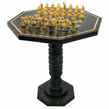 Шахматный стол эпоха из змеевика златоуст