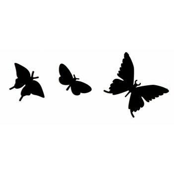 Дополнительные порхающие бабочки черные 3 шт.