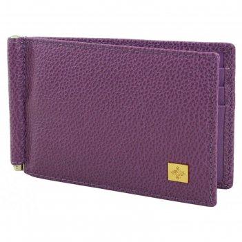 Зажим для денег, 11,2 х 0,5 х 0,8 см, цвет пурпурный, серия purpur