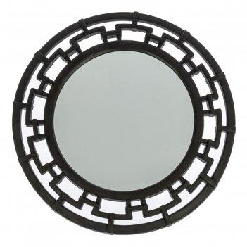 Зеркало круглое эллада, цвет венге