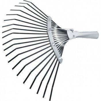 Грабли веерные стальные, 385 мм, 20 плоских зубьев, оксидированные, без че