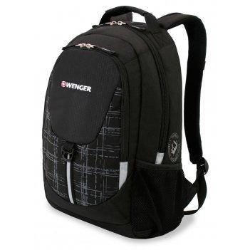 Рюкзак wenger, чёрный/серый, полиэстер 600d/м2 добби, 32x14x45 см, 20 л