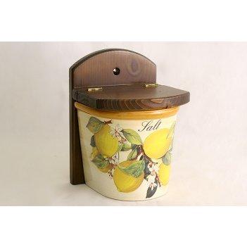 Настенная банка для соли итальянские лимоны
