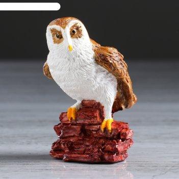 Статуэтка сова на камне рисованая