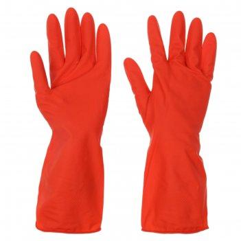 Перчатки хозяйственные прочные, размер s, цвет микс