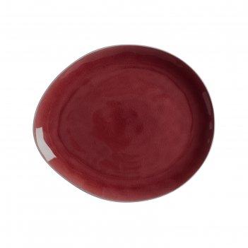 Тарелка artisan 33 x 29 см, гранатовый
