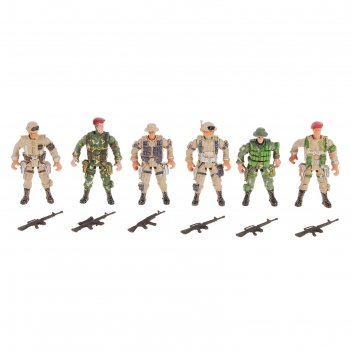 Солдатик спецназ, набор 6 шт