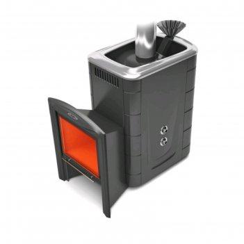 Печь для бани термофор гейзер 2014 inox витра, закрытая каменка, терракота