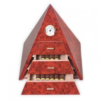 Хьюмидор на 50 шт. от aficionado (испания) пирамида, цвет коричневый