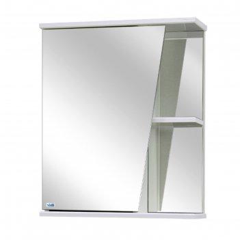 Шкаф-зеркало астра левое, цвет: белый материал - лдсп
