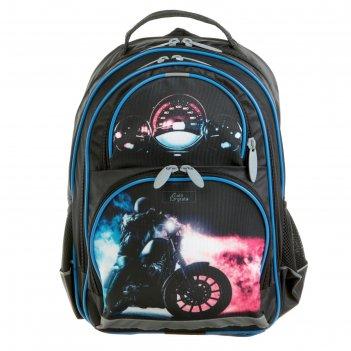 Рюкзак школьный с эргономичной спинкой, calligrata, 36 х 23 х 13, «мотоцик