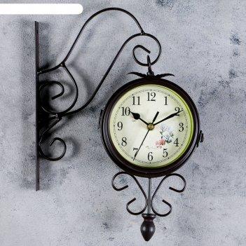 Часы настенные 2-х сторонние весеннее настроение