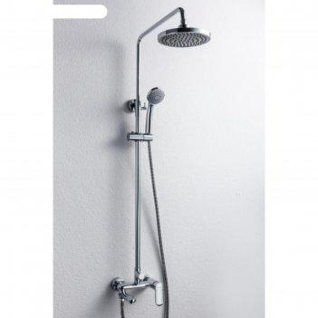 Душевая колонна bravat opal r со смесителем для ванны, поворотный излив (в