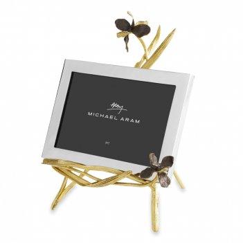 Рамка для фото 13 х 18 см на подставке «черный ирис», материал: латунь, не