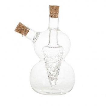 Бутылка для масла и уксуса v=350мл. (10*7,5*15см.) (стекло) (подарочная уп