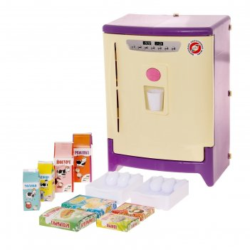 Холодильник с набором продуктов со звуком, на батарейках