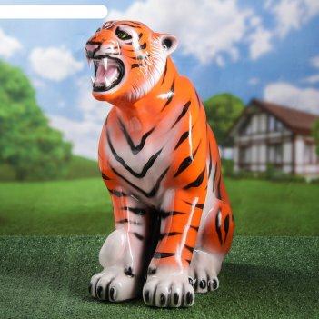 Садовая фигура тигр глянец