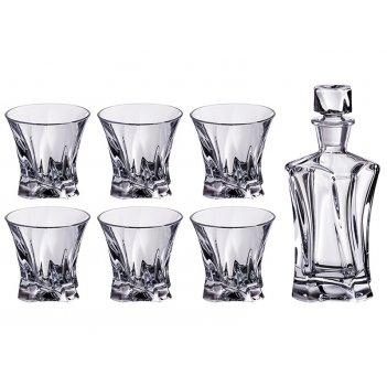 Набор для виски  cooper 7 пр.: штоф+6 стаканов 400/230 мл. высота=24/9 см.