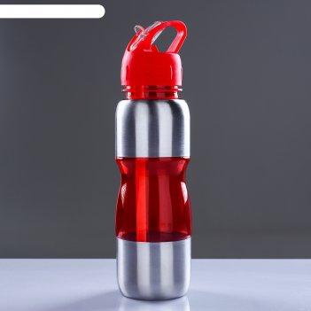 Бутылка для воды альби 650 мл велосипедная, микс, 7х26 см