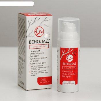 Крем косметический венолад с каштаном, нативный для ухода за кожей тела и