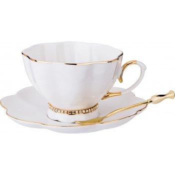 Чайный сервиз на 1 персону с ложкой рублевка 3 пр. 250 мл, (кор=36наб.)