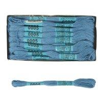 Мулине, №0005, 24 шт x 8м, цвет светло-синий