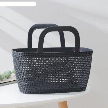 Корзина-сумка лукошко 29х15х15см, цвета микс