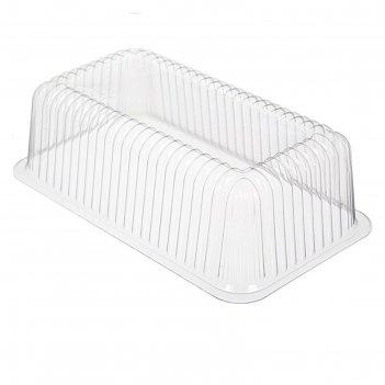 Крышка к контейнеру т-2312к, прямоугольная, цвет прозрачный, размер 24,3 х